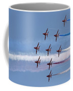 Red Arrows Flying In Formation Coffee Mug