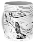 red c5 corvette convertible muscle car photograph by keith webber jr Citroen C5 Car red c5 corvette convertible muscle car coffee mug