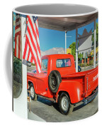 Red Dodge Pickup Truck Parked In Front Coffee Mug