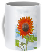 Red Face Sunflower At Olympia Coffee Mug