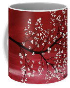 Red Japanese Cherry Blossom Coffee Mug