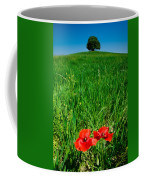 Red Poppies And Oak Coffee Mug