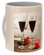 Red Wine And Roses Coffee Mug