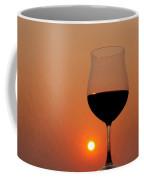Red Wine At Sunset Coffee Mug