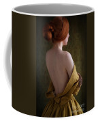 Redhead Woman Removing A Ballgown Coffee Mug