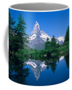 Reflection Of A Snow Covered Mountain Coffee Mug
