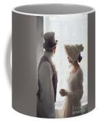 Regency Period Couple At The Window Coffee Mug