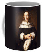 Rembrandt's Portrait Of A Lady With An Ostrich Feather Fan Coffee Mug