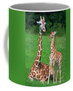 Reticulated Giraffe Calf With Mother Coffee Mug