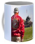Retired Marine Paying Respect Coffee Mug
