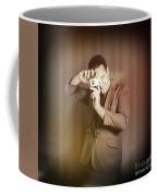 Retro Photographer Man Taking Photo With Camera Coffee Mug
