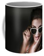 Retro Woman In Early Twenties Expressing Shock Coffee Mug