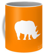 Rhino In Orange And White Coffee Mug