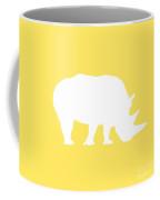 Rhino In Yellow And White Coffee Mug
