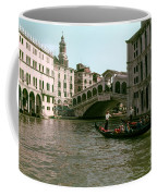 Rialto Bridge In The Grand Canal Coffee Mug