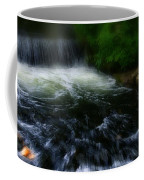 River Wye Waterfall - In Bakewell Peak District - England Coffee Mug