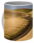 Road Through Wheat Field Coffee Mug