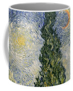 Road With Cypresses Coffee Mug by Vincent Van Gogh