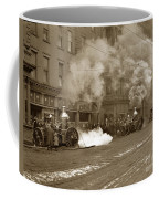 Steam Pumper Rochester Show Case Co. Fire Circa 1890s Coffee Mug