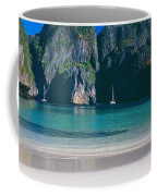 Rock Formations In The Sea, Phi Phi Coffee Mug