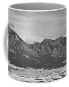 Rocky Mountains Flatirons And Longs Peak Panorama Boulder Coffee Mug