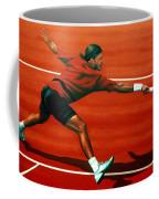 Roger Federer At Roland Garros Coffee Mug