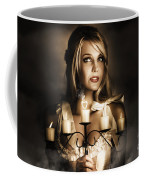 Romantic Blonde Woman Holding The Light Of Love Coffee Mug