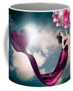 Romantic Girl In Love With Beauty And Fashion Coffee Mug