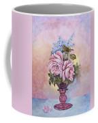 Roses In Ruby Vase Coffee Mug