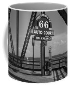 Route 66 - Chain Of Rocks Bridge And Gas Pump Coffee Mug
