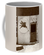 Route 66 - Rusty Mobil Station Coffee Mug by Frank Romeo