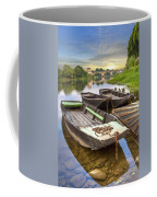 Rowboats On The French Canals Coffee Mug by Debra and Dave Vanderlaan