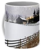 Rural Winter Landscape Coffee Mug