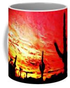 Saguaro Sunset  Coffee Mug