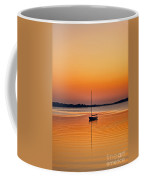 Sailboat At Sunset Coffee Mug