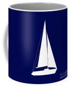 Sailboat In Navy And White Coffee Mug