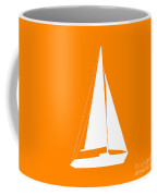 Sailboat In Orange And White Coffee Mug