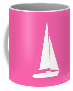 Sailboat In Pink And White Coffee Mug
