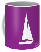 Sailboat In Purple And White Coffee Mug