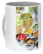 Salad Bowls With Mixed Fresh Vegetables Coffee Mug