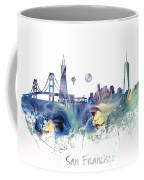 San Francisco City Skyline Coffee Mug