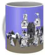 San Xavier Mission Sketched By Art Students C. 1930 Tucson Arizona Coffee Mug