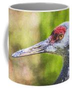 Sandhill Crane Grus Canadensis Coffee Mug