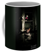 Scary Clown Clawing Window Coffee Mug