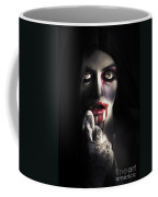 Scary Vampire Woman. Bloody Halloween Horror Coffee Mug