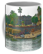 Scene Along Nile River Between Luxor And Qena-egypt  Coffee Mug
