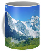 Scenic View Of Eiger And Monch Mountain Coffee Mug