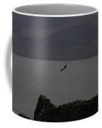 Scottish Flag Flying High Over The Remains Of Urquhart Castle Coffee Mug