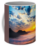 Sea Of Clouds On Sunrise With Ray Lighting Coffee Mug