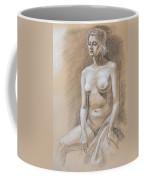 Seated Model Drawing  Coffee Mug by Irina Sztukowski